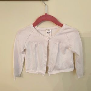 Carters white cardigan